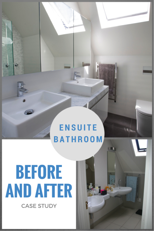 Nicola Manning Design ensuite bathroom makeover renovation. Before and after